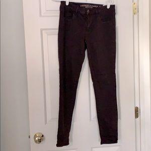 American Eagle skinny pants maroon size 10